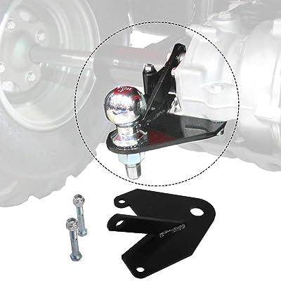 HEKA for Honda 250 Recon TRX ATV Hitch 1997-2020 with Hardware and Powder Coated Finish: Automotive