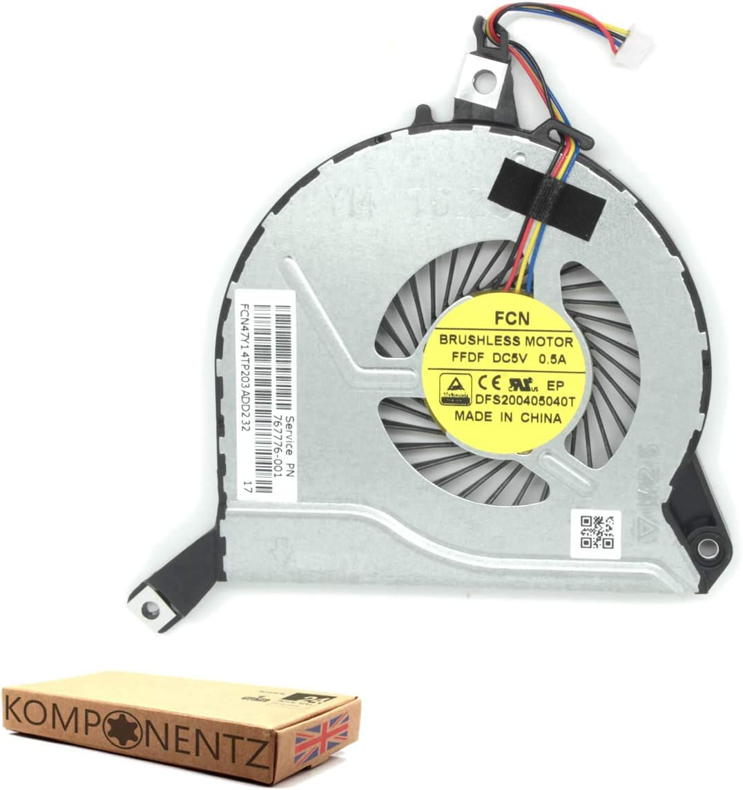 New Replacement CPU Cooling Fan for HP Pavilion 15-P078SA J5B65EA#ABU/  One Click Components