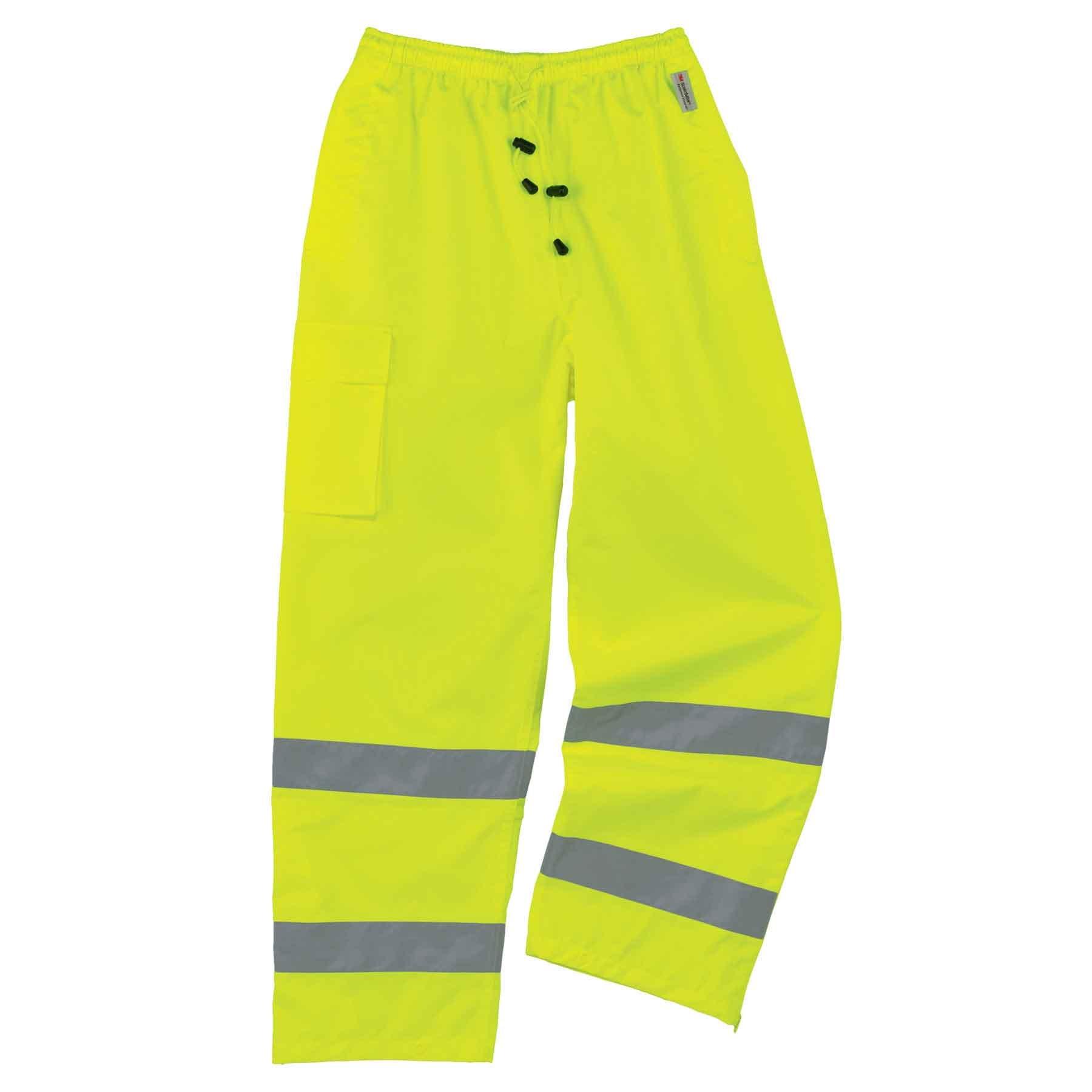 Ergodyne - 8915 L Lime Class E Rain Pants