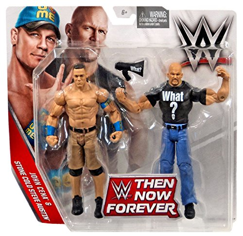 WWE, Basic Series, 2016 Then Now Forever, John Cena and Stone Cold Steve Austin Action Figures