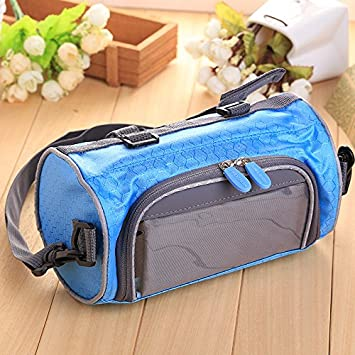 Beautyrain 1PC Mountain Bike Front Bag Trailer Bag Cycling Outdoor Travel  Accessories Blue Navy  4ca790730b