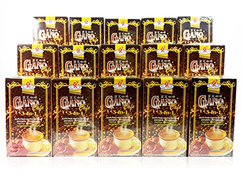15 Box GanoCafe 3 In 1 Ganoderma Gourmet Coffee (20 Sachets Per Box) by Gano Excel