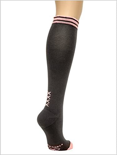 60e64131c1 Image Unavailable. Image not available for. Color: Lily Trotters Women's Designer  Athletic Compression Socks ...