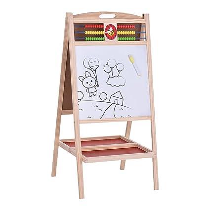 aibecy plegable niños de madera arte caballete pizarra ...