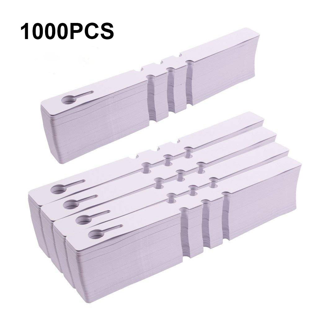 KINGLAKE 1000 Pcs White Plastic Plant Tree Tags Garden Plant Lables Plant Hanging Tags 2x20cm Wrap Around Nursery Garden Labels Large Writing Surface by KINGLAKE