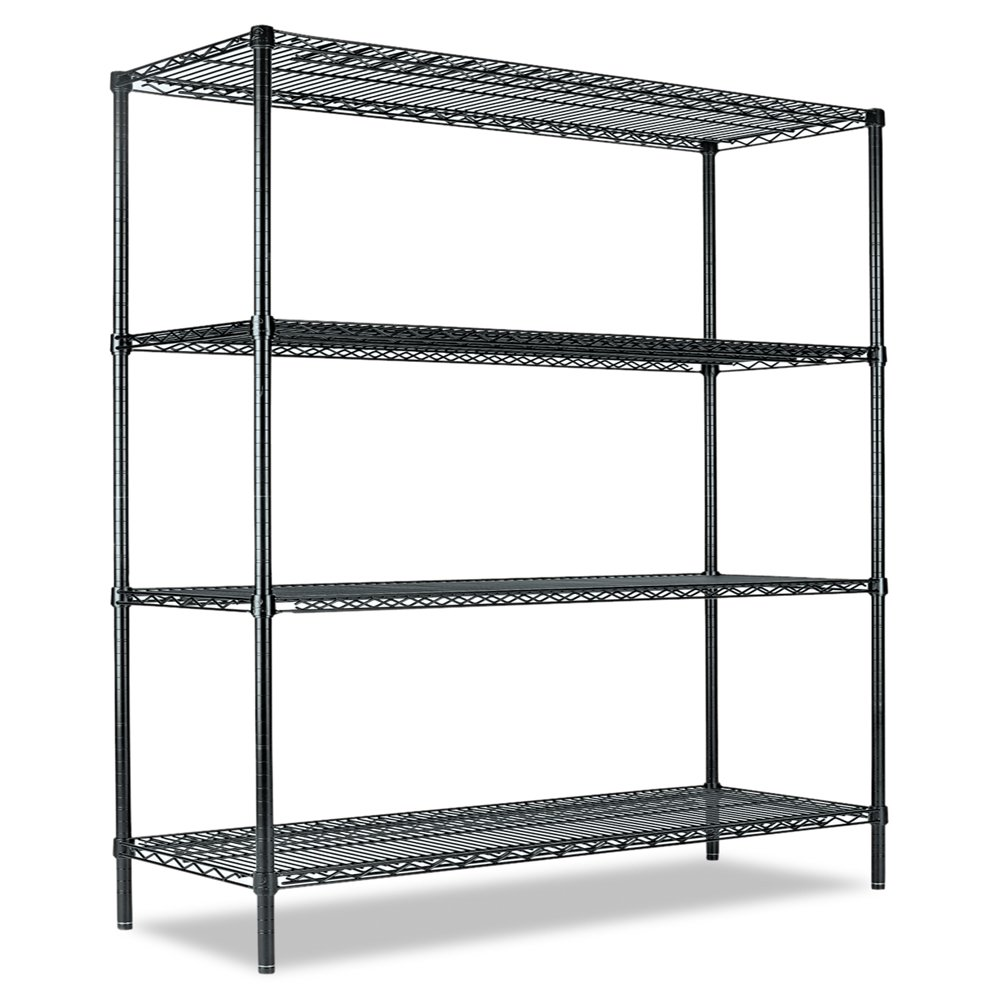 Amazon.com: Alera All-Purpose Wire Shelving Starter Kit, 60 by 24 by ...