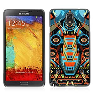 Designer Depo Hard Protection Case for Samsung Galaxy Note 3 N9000 / Psychedelic Colorful Pattern Monster