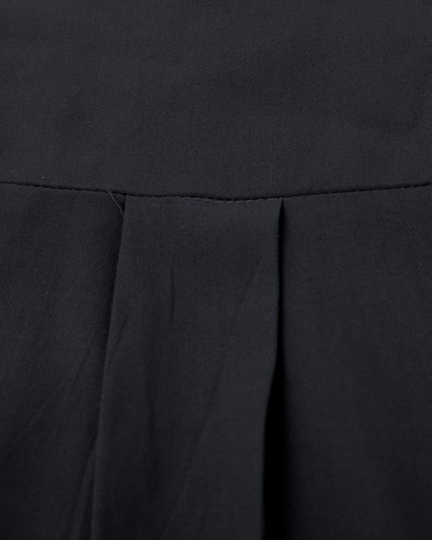ABYOXI T-shirt för kvinnor V-ringad långärmad enfärgade toppar mode leopardtryck blusar vintertröjor svart-1