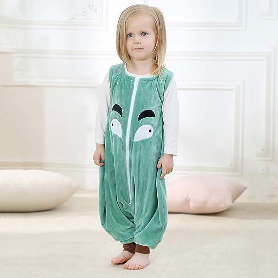 Toddler Kids Baby Boys Girls Cartoon Jumpsuit Sleepwear Split Leg Sleeping Bag