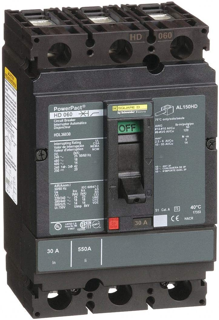 Square D By Schneider QOB230 30 Amp Two-Pole Bolt-On Circuit Breaker 40c•