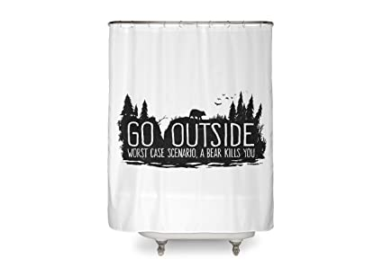 Image Unavailable Not Available For Color PENGPO Welcome To Twin Peaks Fabric Shower Curtain