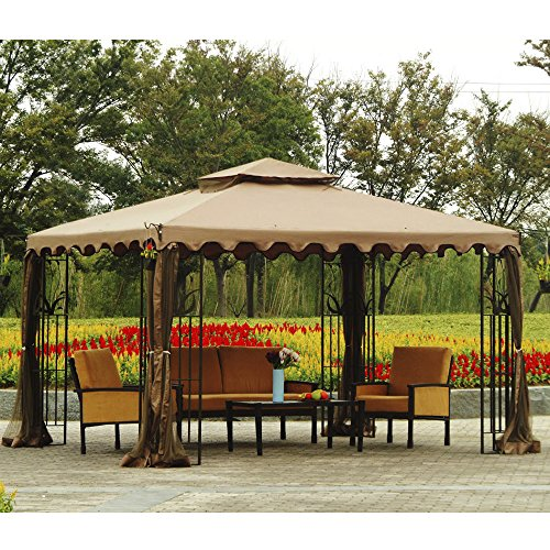 Sunjoy Replacement Canopy Set for 10x12ft L-GZ043PST-3 Gazebo