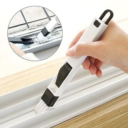 Cepillo VWH para limpiar teclados, ventanas, ranuras con palita para recoger la suciedad;
