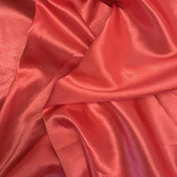 Satin Crepe Back Bridal SOLID Fabric RED HOME Drapery Soft WIDE BY THE YARD