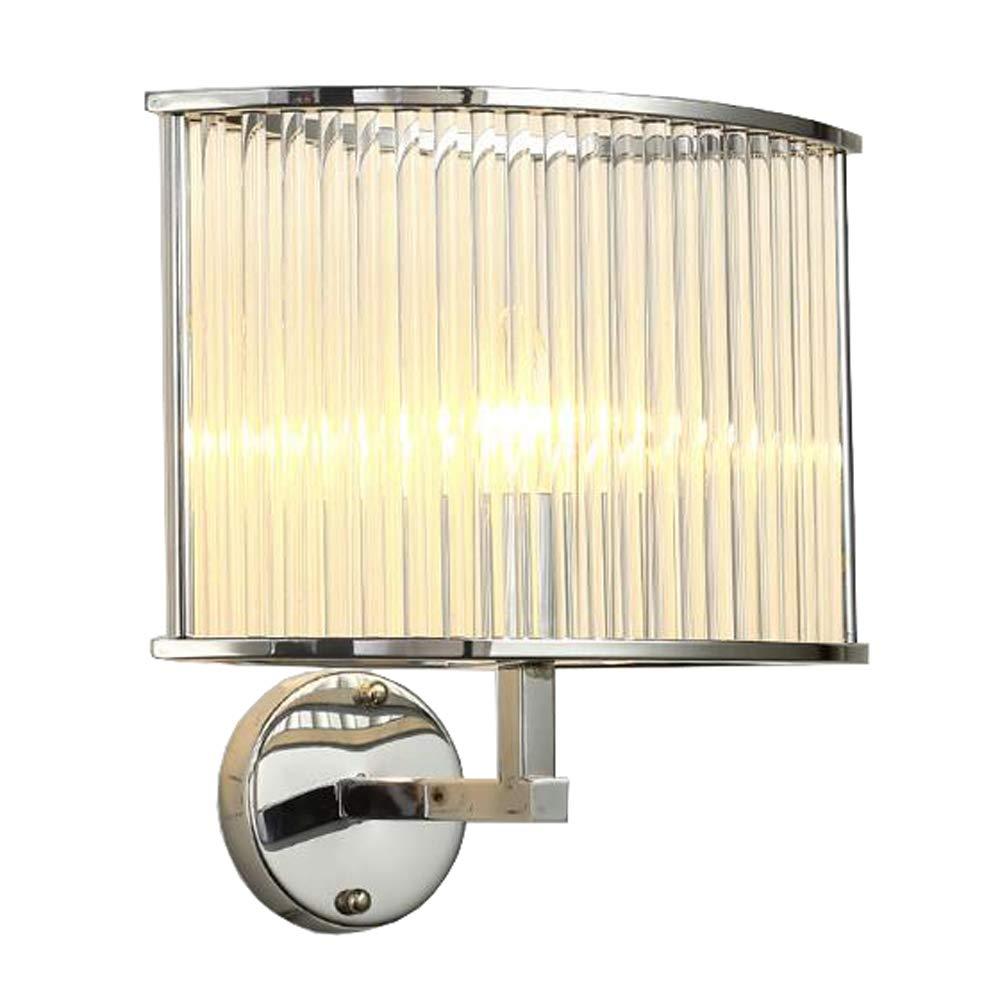 JXJJD Nordic postmodern kreative Glässtab K9 Kristall Wand Lampe Wand Lampe Eisen Wand Lampe Schlafzimmer Wohnzimmer Bett Gang Wand Lampe E14