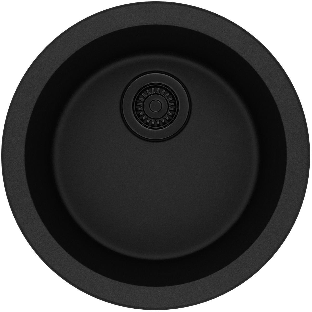 Elkay Quartz Classic ELG16FBBK0 Black Single Bowl Dual Mount Bar Sink