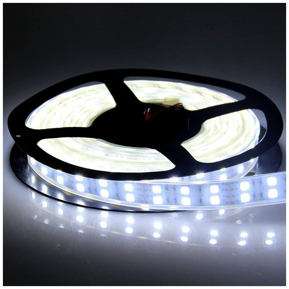 wholesale dealer da9b8 5dadf LEDENET 5M Double Row 600LEDs SMD 5050 LED Flexible Strip Lighting DC 12V  Cold Cool White Waterproof Outdoor Use