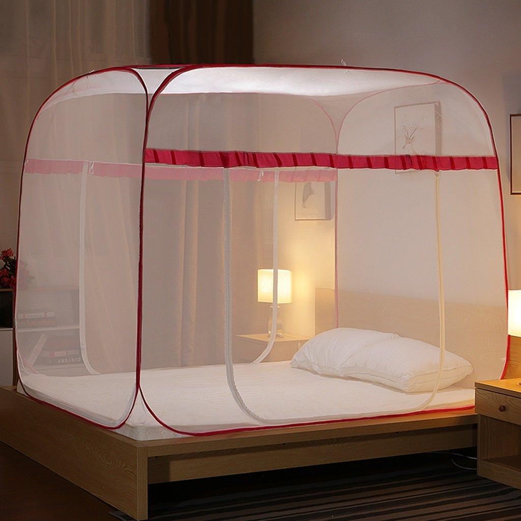 MZ Keine Notwendigkeit, Moskitonetze, yurt-Style dreitürigen offenen Reißverschluss Oben 1,5/1,8 Meter Bett Doppelhaushalt einfache Moskitonetz zu installieren