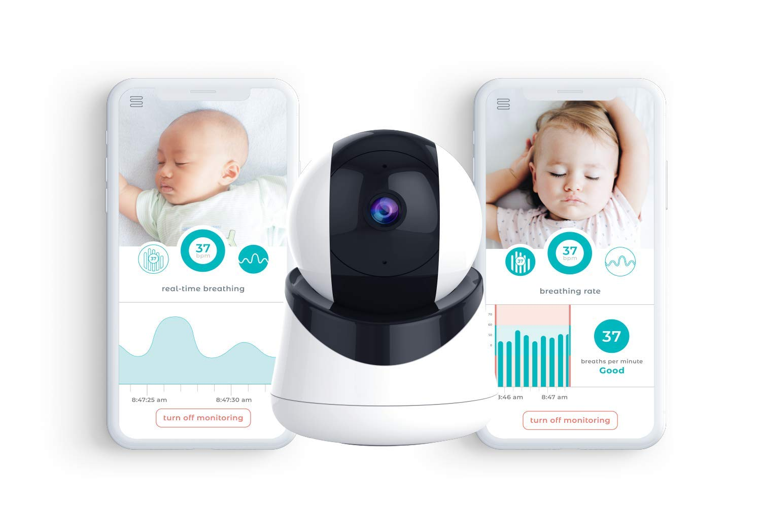 Video Baby Monitor with Breath Detection by Smart Beat Live Video + Audio Streaming