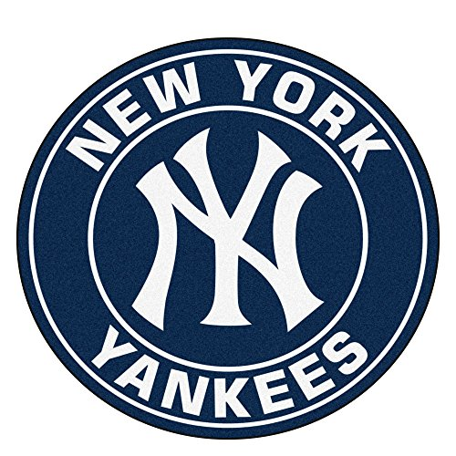 Border New Yankees York (Fanmats 18144 MLB New York Yankees Roundel Mat,Team Color)
