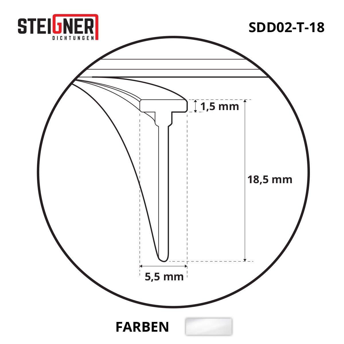 T-14 transparent joint en silicone pour la protection contre les fuites deau STEIGNER Joint de douche 80cm SDD02