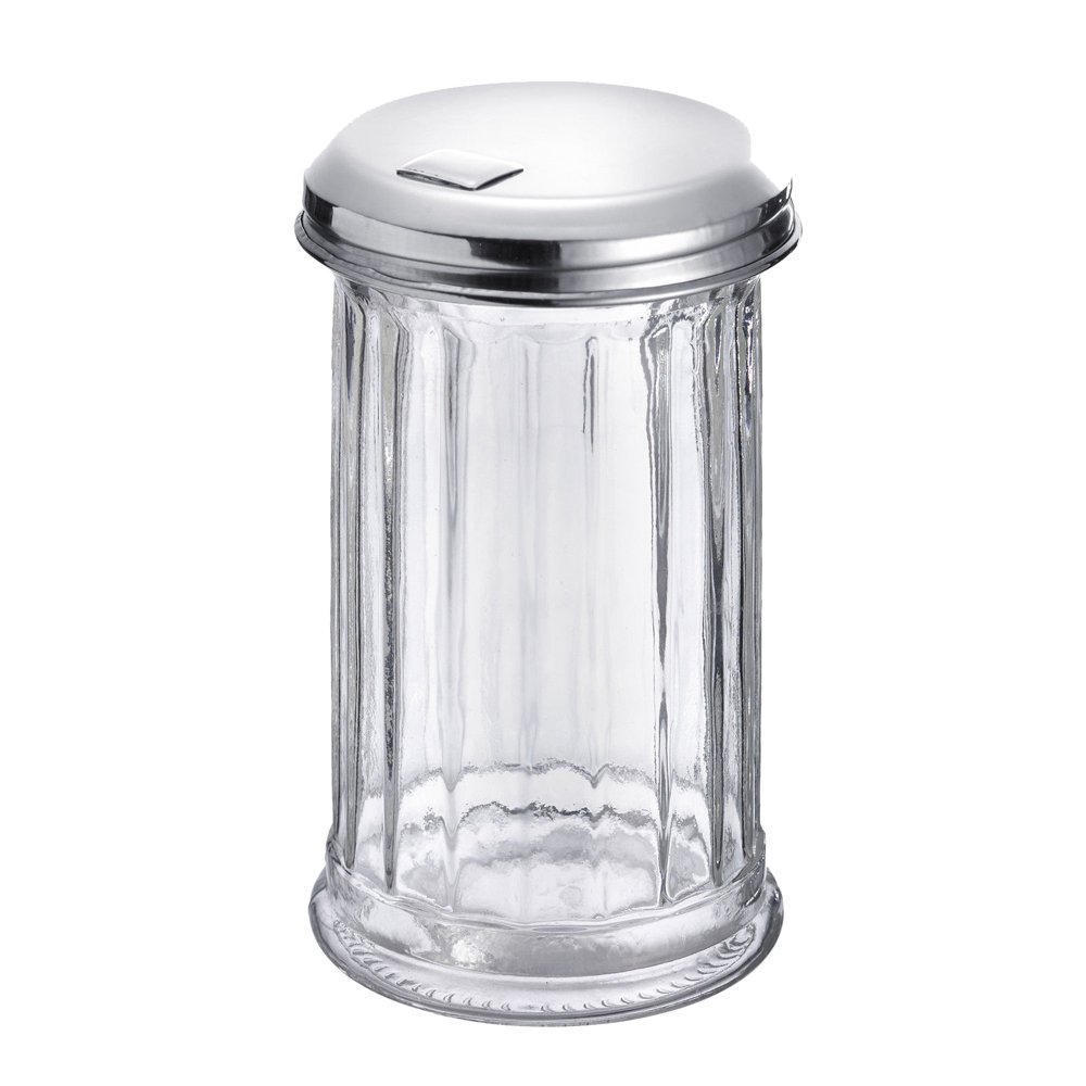 Westmark Germany 'New York' Glass Sugar Dispenser with a Flap Top, Stainless Steel by Westmark (Image #2)