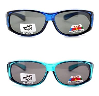4429fd70ae442 2 Pair of Fit Over Sunglasses For Women - Wear Over Prescription Glasses