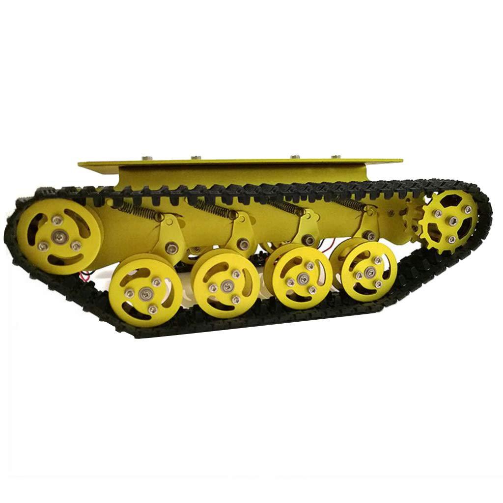 Perfk Roboter Panzerwagen Plattform Chassis Stoßdämpfung Smart Smart Stoßdämpfung Auto Chassis für Arduino - Silber 12V 4826f7