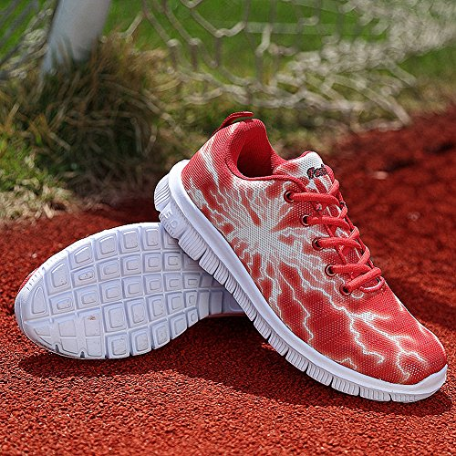 Red Shoes Fashion Walking Jogging Sneakers Women's Lightweight ZHENZHONG Tennis 18xqaSfw
