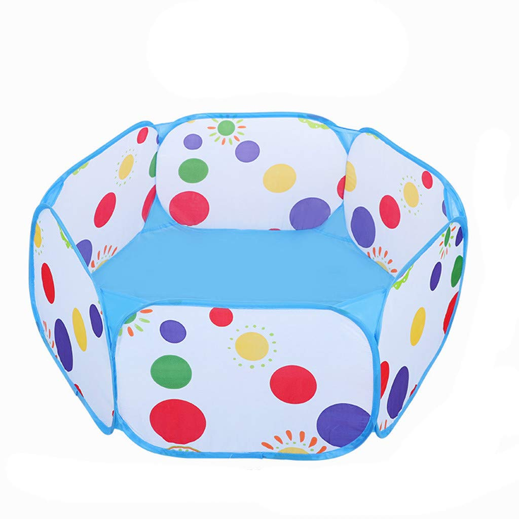 Euone 子供用 プレイペン 子供用 ボールピット プレイペン ジッパー収納バッグ 屋内 ベビー ベビーサークル 幼児 ボールピット   B07L91ZYCS