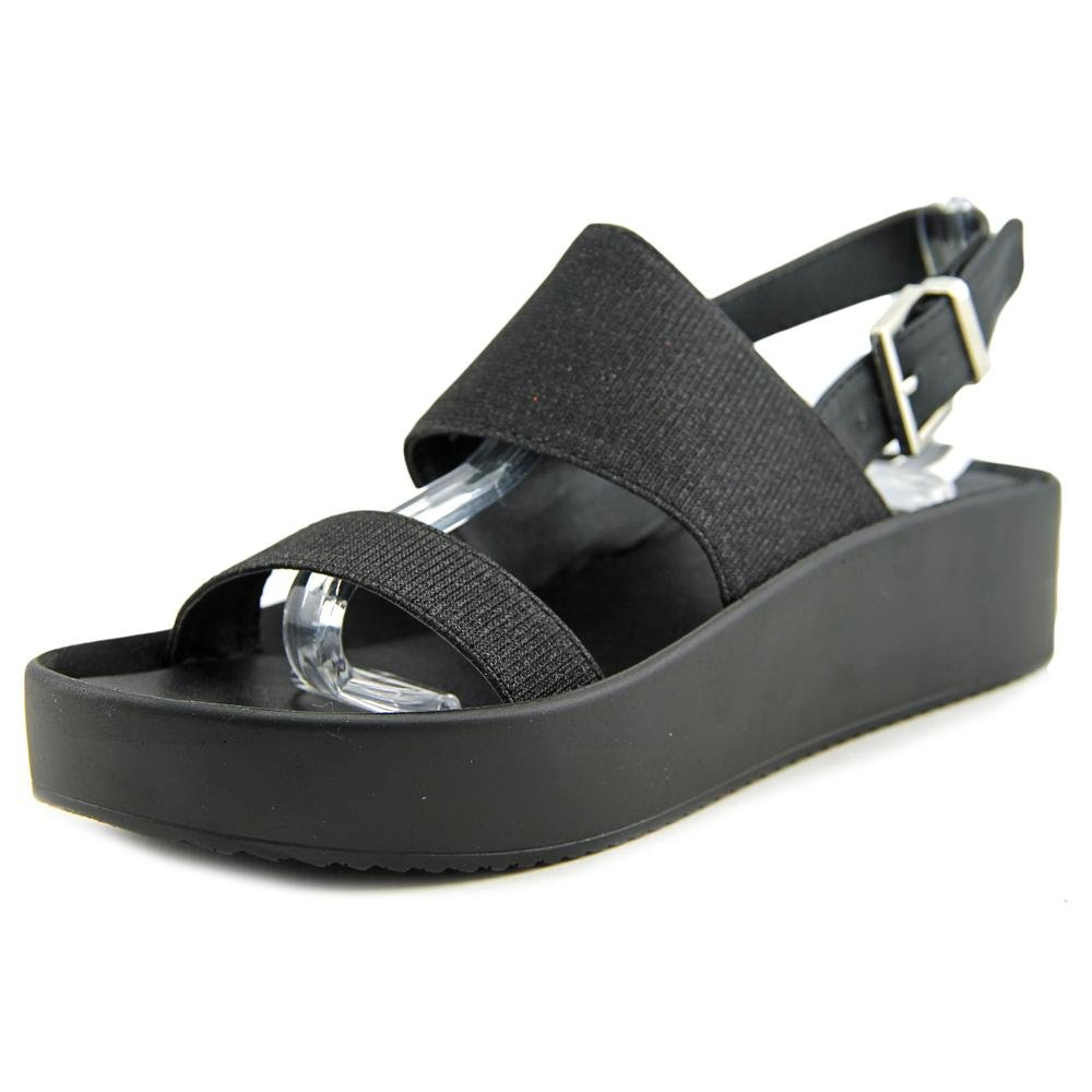Wanted Shoes Womens Glowing Open Toe Casual Ankle Strap Sandals B01EM53CG2 10 B(M) US Black