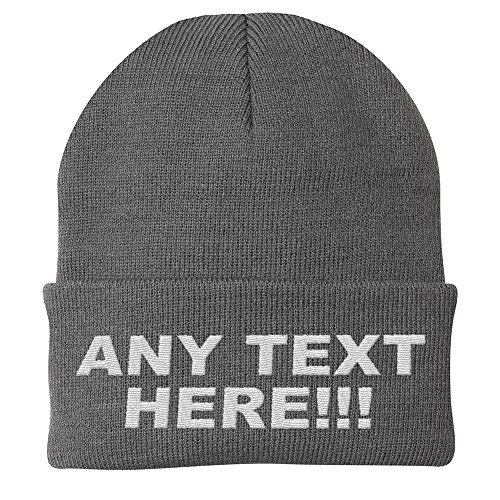 (Design Your Own Knit Cap, Custom Text, Personalized Beanie, Embroidered with Color Choices (Oxford))
