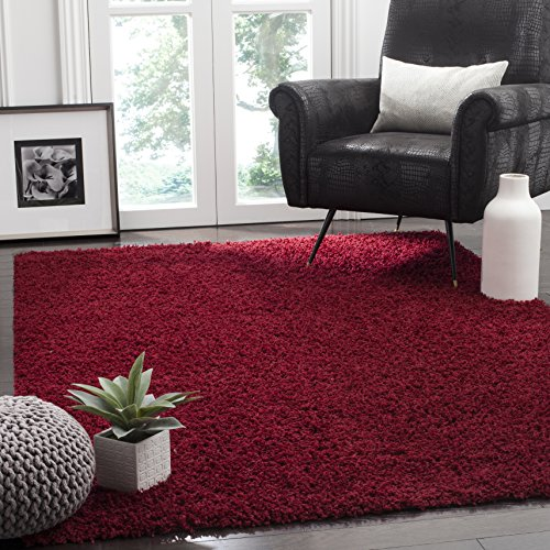 SAFAVIEH Athens Shag Collection SGA119R Non-Shedding Living Room Bedroom Dining Room Entryway Plush 1.5-inch Thick Area…