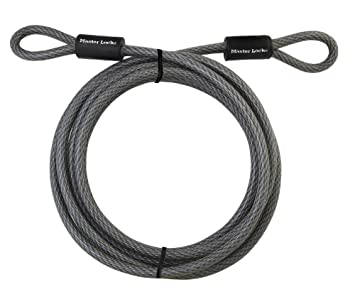 Master Lock Cable, Steel Cable With Looped Ends, 15 ft. Long ...