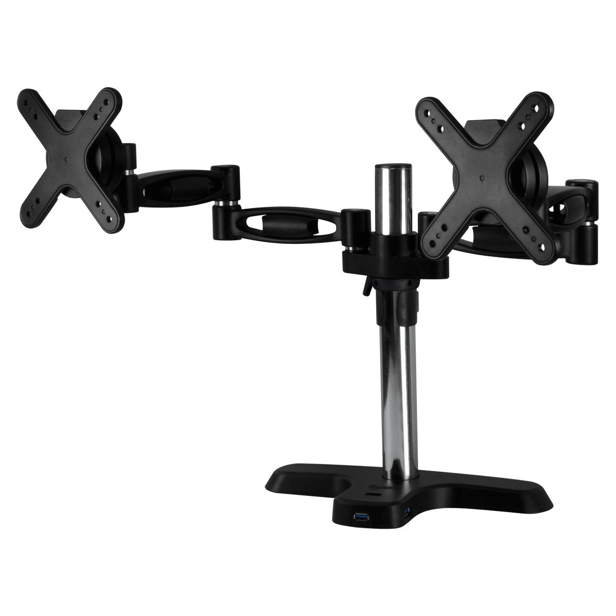 ARCTIC Z2 Pro (Gen 2) - Desk Mount Dual Monitor Arm with 4 Ports USB 3.0 Hub for 13-27 inch I Up to 10kg weight capacity I 360 degree rotation - Black