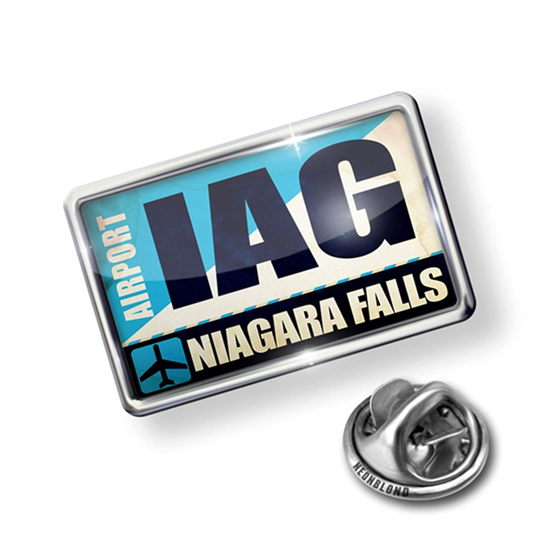 Pin Airportcode IAG Niagara Falls - Lapel Badge - NEONBLOND