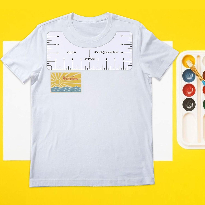 4 Pack Tshirt Alignment Ruler T-Shirt Ruler Acrylic Tshirt Alignment Ruler Tool Set for Fashion Design Clothing Ruler Sewing Ruler