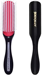 Denman Classic Styling Brush 7 Rows - D3 - Hair Brush for Blow-Drying & Styling – Detangling, Separating, Shaping & Defining Curls for Women