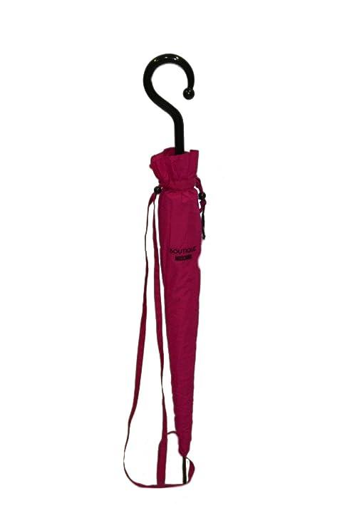 Ombrello Moschino con custodia biposto antivento fuxia  Amazon.it ... 24155fe183a