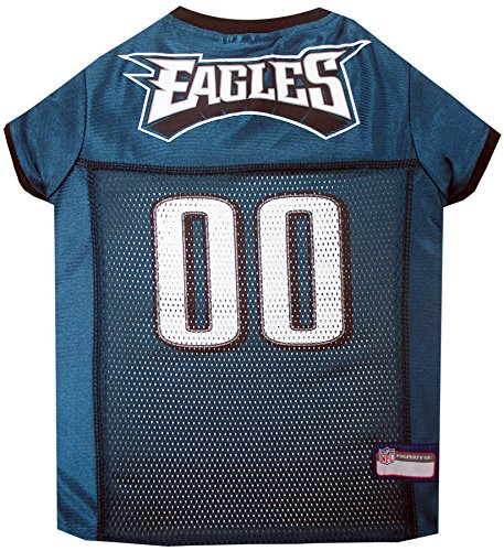 Pets First NFL PHILADELPHIA EAGLES DOG Jersey, Small