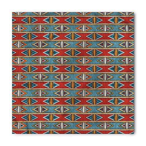 African Bandana by Ambesonne, Tribal Horizontal Abstract Diamond Pattern Rhombus Shape Colorful Archaic Design, Printed Unisex Bandana Head and Neck Tie Scarf Headband, 22 X 22 Inches, - Men Shape Diamond Head