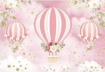 DORCEV 6.5x6.5ft Baby Shower Backdrop Bathtub Toy Balls Flamingo Lifebuoy Photography Background Pink Wall Shiny Welcome Letter Baby Shower Party Cake Table Banner Photo Studio Props