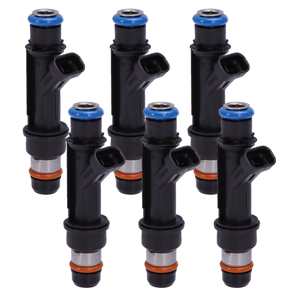 Pack of 6 Fuel Injector 25323972 12586551 25323971 for Buick Chevrolet Pontiac 3.8L