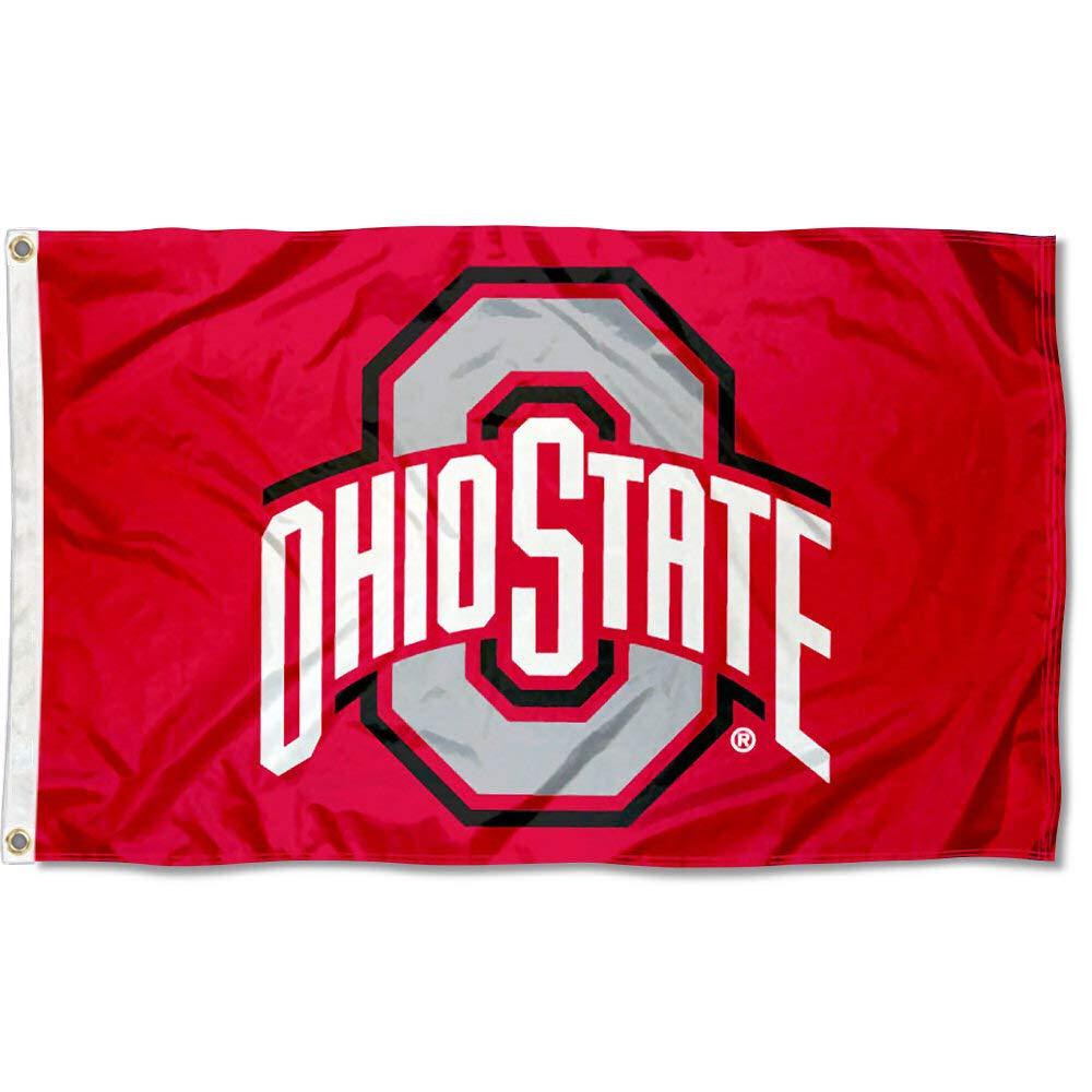 College Flags and Banners Co. Ohio State Flag OSU Buckeye Flag