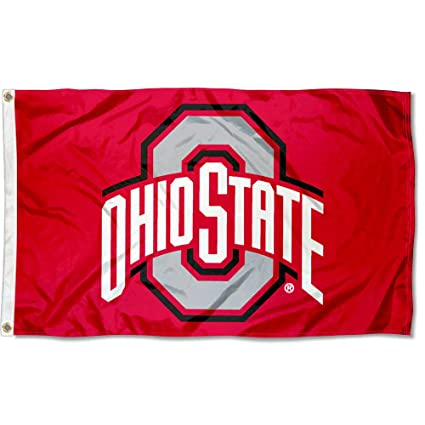 College Flags Banners Co Ohio State Flag Osu Buckeye Flag