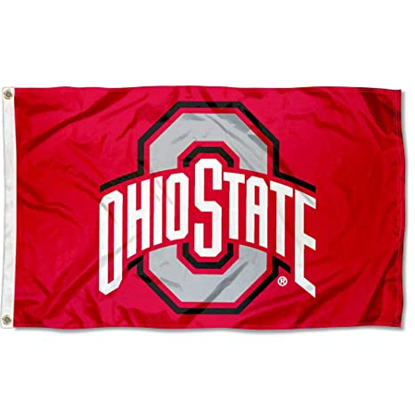 f3d1dc354fd Amazon.com   College Flags and Banners Co. Ohio State Flag OSU Buckeye Flag    Outdoor Flags   Garden   Outdoor