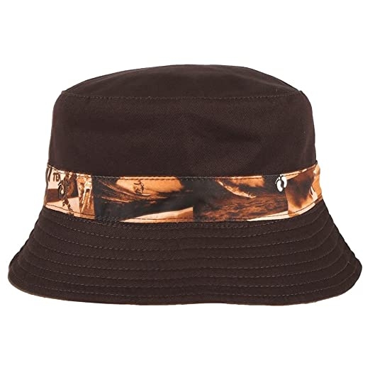 fe0ad123b20 Hang Ten Sublimated Microfiber Reversible Bucket Hat w Embroidered Logo (M)