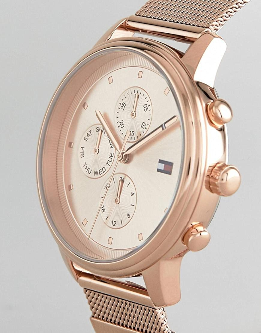 Amazon.com: Tommy Hilfiger Rose Gold Stainless Steel Watch-1781907: Watches