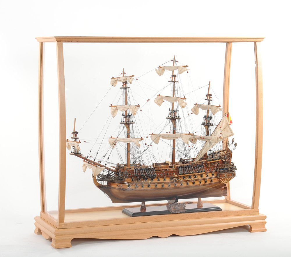 Old Modern Handicrafts P033 Display Case for Midsize Tall Ship Clear Finish by Old Modern Handicrafts (Image #6)