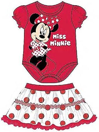 Disney Camisa enredadera de Minnie Mouse con falda de lunares de ...